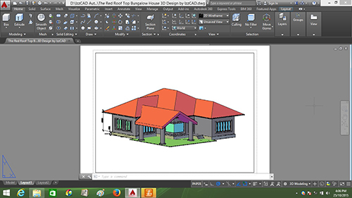 IzzCAD Publishing provides AutoCAD ebook download, AutoCAD 3D House